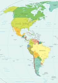 Image result for map of the americas