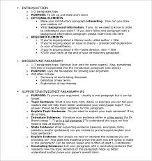 essay outline word pdf format  argumentative essay outline template
