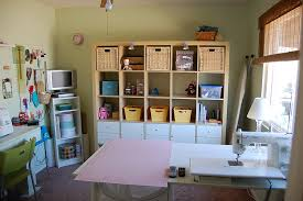 office craft room ideas. Craft Room Ideas On A Budget Brown Wooden Shelving Cabinet Ceiling Lamp Sewing Space White Melamine Corner Rack Floor Whit Drawer Tools Office N