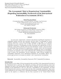 the accountants role in organizations sustainability european journal of scientific researchissn 1450 216x vol 59 no 3 2011
