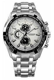 Silver New <b>Curren 8023</b> White Dial Steel Strap <b>Watch</b> For <b>Men</b>, Rs ...