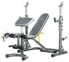 Golds Gym Weight Bench With Squat Rack Transitional Home