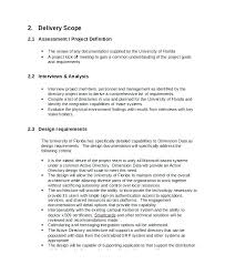 Statement Of Work Proposal Template Project Scope Example In