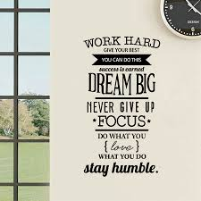 cool wall stickers home office wall. Work Hard Removable Wall Decal Positive Quote Vinyl Sticker Office Home Decor Cool Stickers