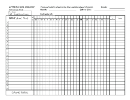 Roster Sheet Template Attendance Sheet Template Monthly Excel Employee Training
