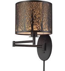 elk lighting swing arm wall sconce. elk lighting - 31069/1 woodland sunrise oil rubbed bronze 10 inch 1 light elk swing arm wall sconce