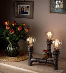 handmade steampunk design light pipe standard lamps vintage for the modern household household lighting fixtures g15 household
