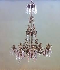 antique glass chandelier vintage antique cut