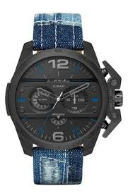 burberry large ceramic chronograph watch nordstrom kostüm ironside chronograph denim strap watch 55mm