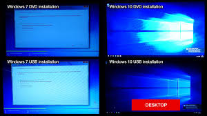 dvd vs cd comparing speed of installation of win7 vs win10 vs usb vs dvd youtube