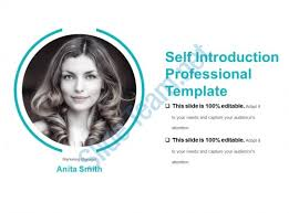 Self Introduction Professional Template Sample Presentation Ppt