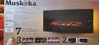 muskoka 42 curved wall mount electric fireplace