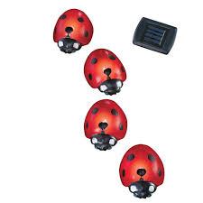 Ladybug Garden Lights Details About Solar Ladybug Garden Light Lawn Stakes Set Of 4 Red By Collections Etc