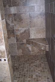 Contemporary Bathroom Decoration Using Various Walk In Shower With Seat :  Great Small Bathroom Decorating Design
