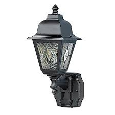 heath zenith 15 75 in h black motion activated outdoor wall light