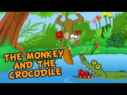 the monkey and the crocodile grandma stories english animated stories for kids you