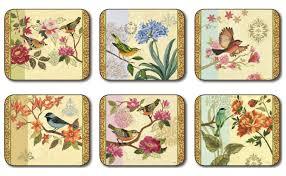 placemats.de | Jason Bird Study Untersetzer | Jason Untersetzer - Jason_BIRD_STUDY_coasters_all6_400