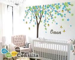 nursery wall stickers fl tree wall decal personalized name erflies nursery wall stickers baby bunting