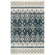 ont blue beige 8 ft x 10 ft rectangle area rug