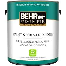 Behr Premium Plus 1 Gal Ultra Pure White Flat Zero Voc Interior Home Depot Paint