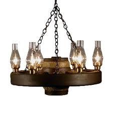 wagon wheel chandelier small how to make with mason jars
