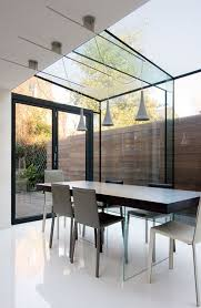roof lighting. pitched roof glass with to party wall allow light through lighting