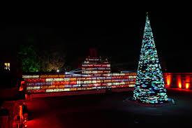 Christmas Night Light Show Longleat Christmas Tree Show Lci Productions