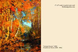 Field Garden Fine Art Note Cards Autumn Stream By