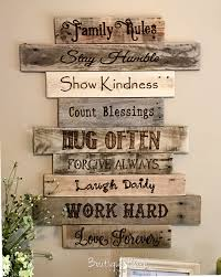 family rules rustic sign rustic wall art decor ideas from craft mart