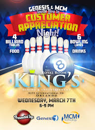 Bowling Event Flyer Event Flyer Kings Orlando On Behance