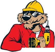 acme tools logo. acmetools mascot duster image acme tools logo