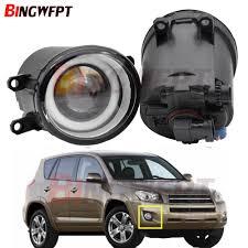 2006 Toyota Highlander Fog Light Kit Us 8 69 21 Off 2pcs Led Fog Light Angel Eye With Lens For Toyota Rav4 Rav 4 Iii 2006 2012 For Toyota Highlander 2008 2009 2010 2011 2012 In Car