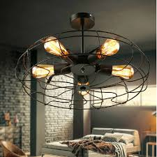 caged lighting. black u0026 white wrought iron cage ceiling lights creative art diamond lamps vintage fan light caged lighting e
