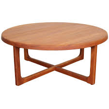 amazing of round teak coffee table with mid century large round solid teak coffee table at 1stdibs is also