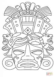 Mayn Mask Coloring Page Png Imagem