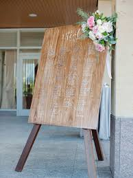 Invitations More Photos Wood Seating Chart With Flowers