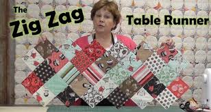 Zig Zag Charm Pack Table Runner - YouTube &  Adamdwight.com