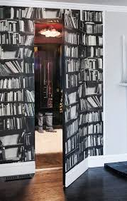 hidden door ideas. hidden door design ideas closet eclectic with white fur rug bookcase wallpaper e