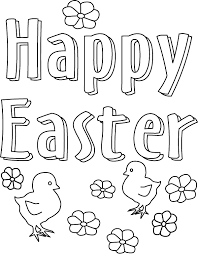 Easter Coloring Pages Happy Easter Coloringstar
