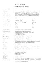 Resume Examples For Dental Assistants Interesting Dental Assistant Resume Examples Best Of Dentist Resume Example