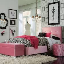 Parisian Bedroom Furniture Standard Furniture Young Parisian Upholstered Kids Bed In Pink