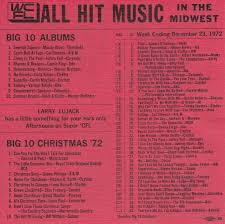 1972 Music Charts Christmastime At The Voice Of Labor Wcfls All Hit Music