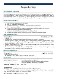 Sample Resume For Machine Design Engineer Best Mechanical D