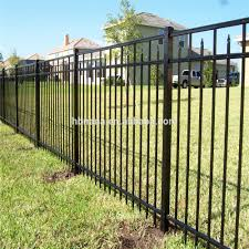 Professional Curved Metal Fencing Modular Fencing System Fence