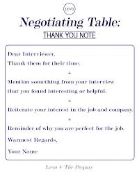 Negotiating Table The Interview Thank You Note Work Party