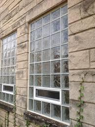 glass block church windows at hope lutheran church in columbus ohio