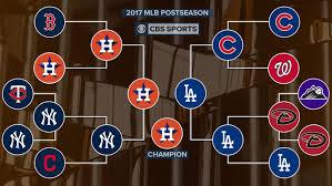 2017 Mlb Playoffs Bracket Schedule Start Times Tv