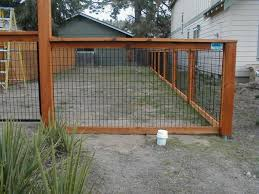 wood and wire fences. Fence With Wood Wire Panels And Fences D