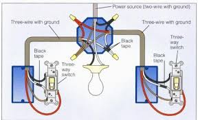 wiring a 3 way switch 3 way power at light 2 diagram