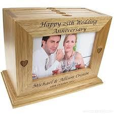 50th Wedding Anniversary Gift Engraved Oak Wedding Anniversary Photo